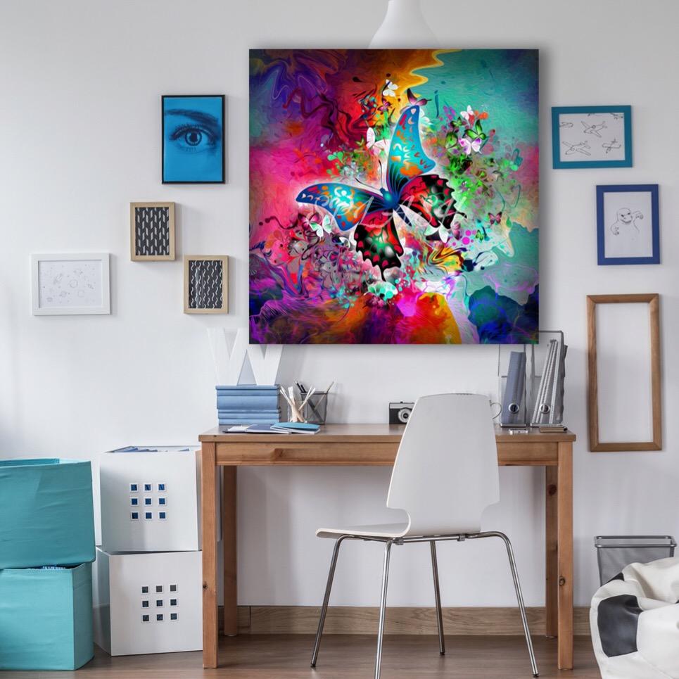 Cuadro con mariposa tienda de cuadros modernos cuadros - Cuadros bonitos para salon ...